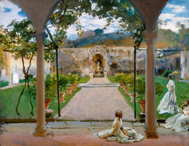 3.12 John Singer Sargent, At Torre Galli: Ladies in a Garden, 1910, oil on canvas; 71.1 x 91.4 cm;
