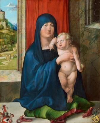 01_Albrecht Dürer, Haller Madonna, um 1498 Washington, National Gallery of Art, Kress Collection, Nr. 1952.2.16.a