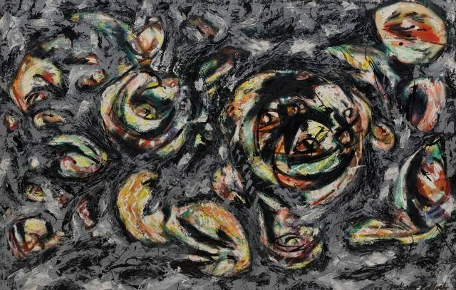 Jackson Pollock 3. Ocean Greyness, 1953 Oil on canvas, 146.7 x 229 cm Solomon R. Guggenheim Museum, New York © 2012 The Pollock-Krasner Foundation/Artists Rights Society (ARS),  New York