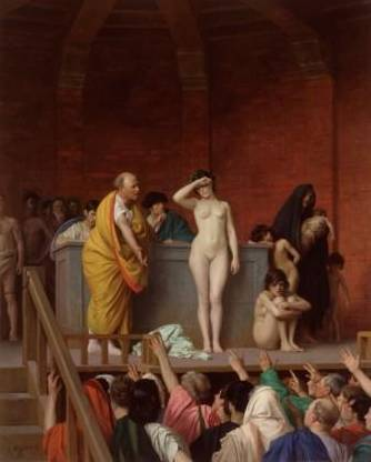5.	Jean-Léon Gérôme (1824–1904), The Sale of a Female Slave in Ancient Rome, 1884. Oil on canvas, 92 х 74 cm © State Hermitage Museum, St Petersburg