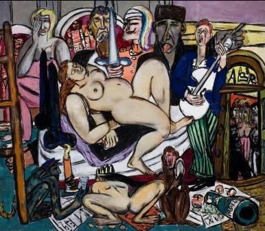 Max Beckmann (1884-1950) The Town. City Night, 1950 Öl auf Leinwand, 164,5 x 190,5 cm Saint Louis Art Museum, Bequest of Morton D. May © VG Bild-Kunst, Bonn 2011