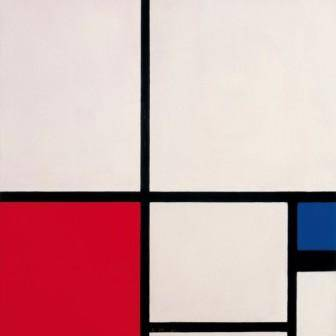 Piet MONDRIAN Composición de colores / Composición nº I con rojo y azul / Composition in Colours / Composition No. I with Red and Blue, 1931 Óleo sobre lienzo / Oil on canvas. 50 x 50 cm Museo Thyssen-Bornemisza, Madrid. Inv. 677 (1977.51)