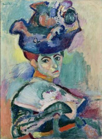 Henri Matisse (French, 1869–1954) Woman with a Hat, 1905 Oil on canvas; 31 3/4 x 23 1/2 in. (80.7 x 59.7 cm) San Francisco Museum of Modern Art, Bequest of Elise S. Haas © 2012 Succession H. Matisse / Artists Rights Society (ARS), New York