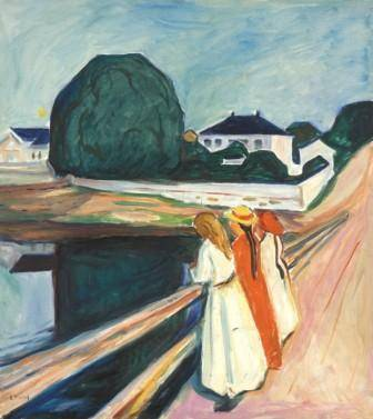 5.	Edvard Munch  The Girls on the Bridge 1927  Munch Museum   Munch Museum/Munch-EllingsendGroup/DACS 2012