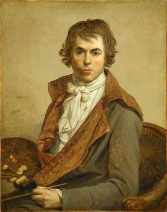 Jacques-Louis David. Autorretrato del artista, 1794.  RMN Museo del Louvre / Grard Blot