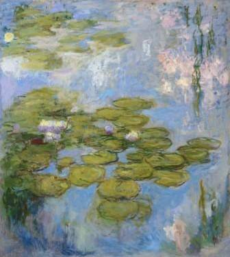 5.	<<Water-Lilies, 1916-1919 resized.jpg>>  Claude Monet  Waterlillies (Nymphéas) 1916-19  Oil on canvas  2000 x 1800 mm
