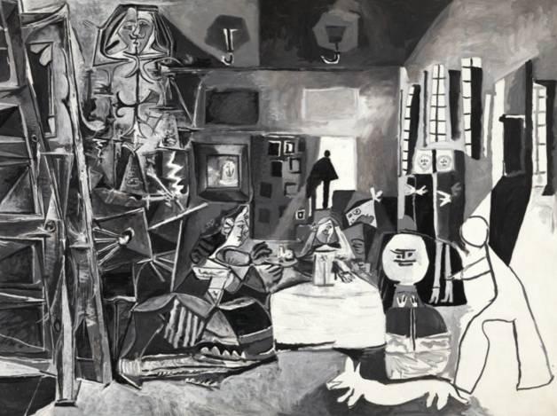 Pablo Picasso The Maids of Honor (Las Meninas, after Velázquez) (Les Ménines, vue d'ensemble, d'après Velázquez) La Californie, August 17, 1957 Oil on canvas, 194 x 260 cm Museu Picasso, Barcelona, Gift of the artist, 1968 © 2012 Estate of Pablo Picasso/Artists Rights Society (ARS), New York Photo: Gassull Fotografia