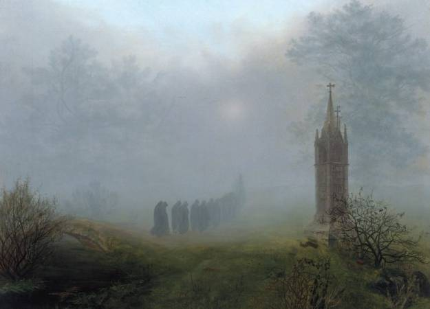 Ernst Ferdinand Oehme, 1797–1855 Procession in the Fog, 1828 Oil on canvas, 81,5 × 105,5 cm © Galerie Neue Meister, Staatliche Kunstsammlungen Dresden