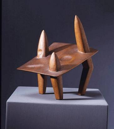 Figura coja andando, por Giacometti, 1931-32