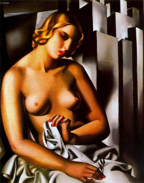 Desnudo con edificios, por Tamara de Lempicka, 1930