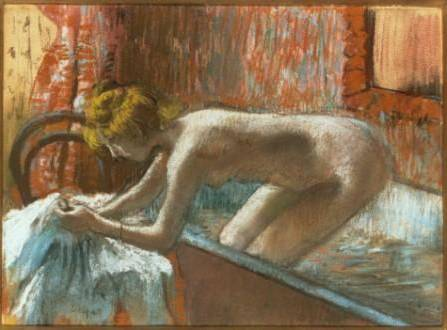 Woman Leaving Her Bath, 1886 ? Edgar Degas (French, 1834–1917) Pastel over monotype *Private Collection *Courtesy, Museum of Fine Arts, Boston