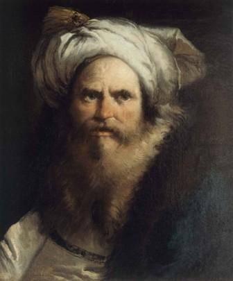 Giandomenico Tiepolo. Retrato de hombre con turbante. c.1768. Óleo sobre lienzo