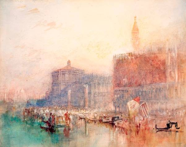 1. Joseph Mallord William Turner (1775-1851) The Doge's Palace and Piazzetta, Venice, c.1840 Photo © National Gallery of Ireland
