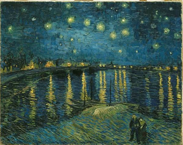 Starry Night (1888–1889) by Vincent van Gogh (1853–1890) Oil on canvas, 72.5 x 92 cm Donation of M. and Mme Robert Kahn-Sriber (1975) © RMN (Musée d'Orsay) / Hervé Lewandowski