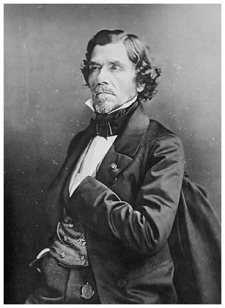 Eugène Delacroix retratado por Nadar.