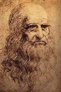 Posible autorretrato de Leonardo da Vinci, 1513.