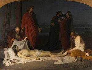El Descendimiento  Domingo Valdivieso  Óleo sobre lienzo, 254 x 343 cm  1864  Madrid, Museo Nacional del Prado
