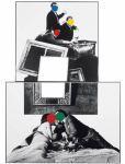 John Baldessari, Bloody Sundae, 1987; Black-and-white photographs and vinyl paint,  93 x 65 ¾ in.; © John Baldessari, 2009; Photo courtesy Baldessari Studio and Marian Goodman Gallery, New York and Paris; Fuente: MACBA