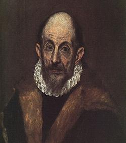 Retrato de un caballero anciano (llamado autorretrato de El Greco), 1595-1600 (Museo Metropolitano de Nueva York).