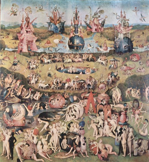 bosch triptych of the garden of earthly delights prado