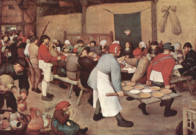 bruegel the peasants wedding 1568 kunsthistorisches museum
