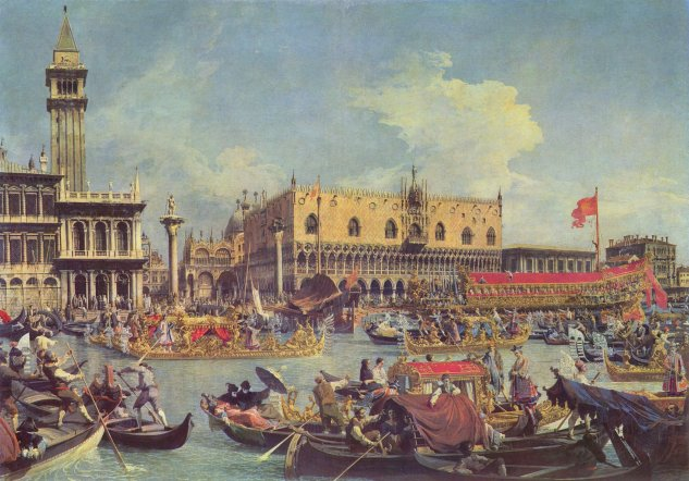 canaletto the return of the bucentaur at the molo on ascension day crespi coll