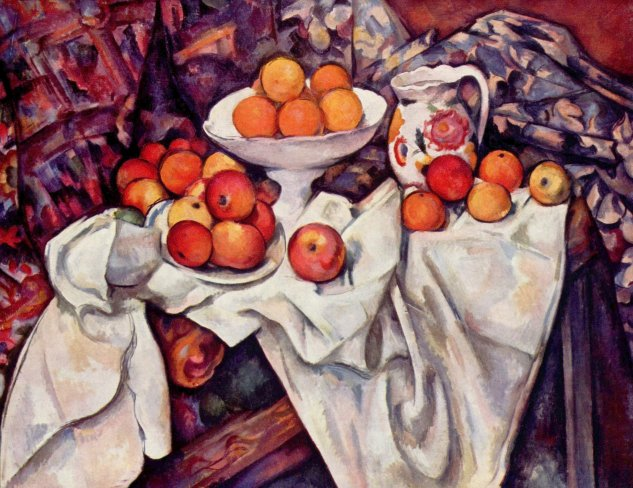 cezanne still life with apples and oranges musee dorsay