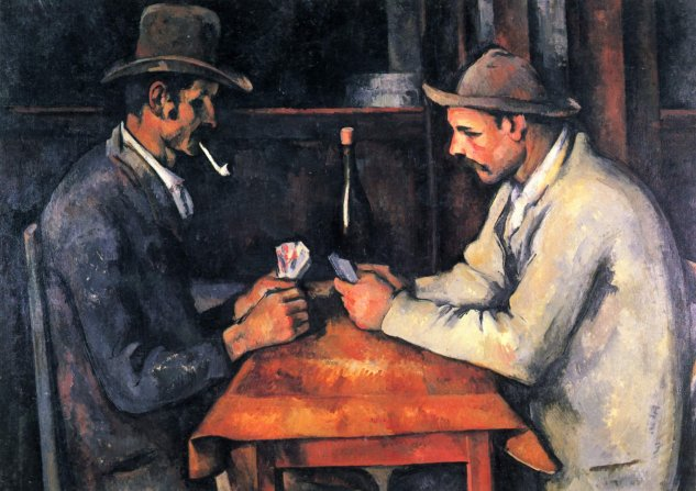 cezanne jugadores de cartas museo dorsay