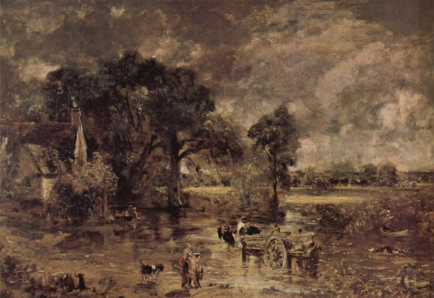 constable full scale study of the hay wain victoria albert museum