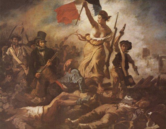 delacroix la libertad guiando al pueblo museo del hermitage