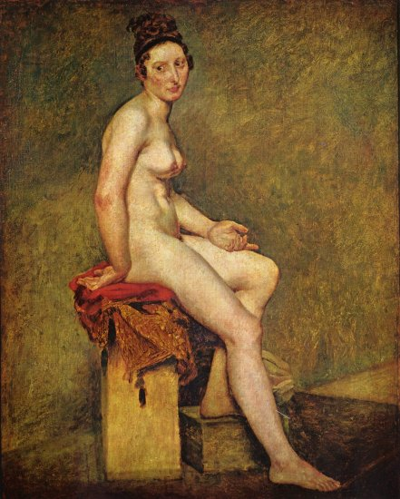 delacroix desnuda sentada louvre