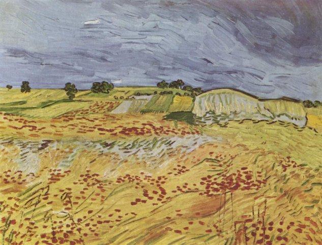 gogh landscape with dark sky private coll