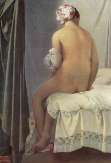 ingres the small bather or the valpincon bather louvre