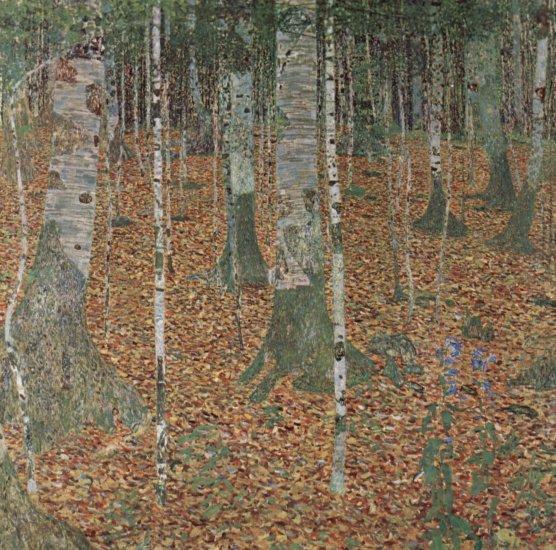 klimt birkenwaldbuchenwald birch forest beech forest 1903