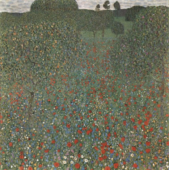 klimt a field of poppies oesterreichische galerie belvedere