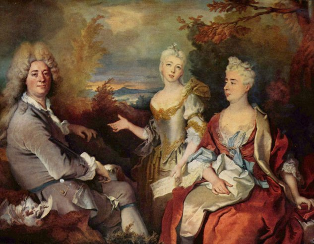 largilliere portrait de famille dit autrefois portrait du peintre de sa louvre