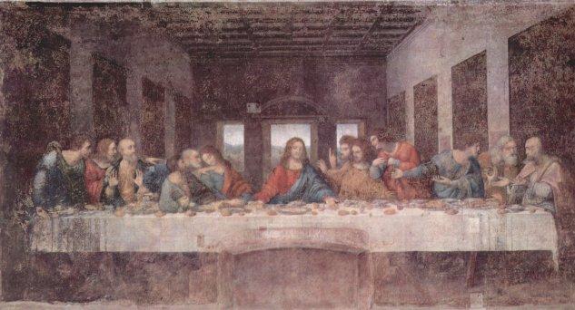 leonardo da vinci last supper before restoration church of santa maria delle grazie