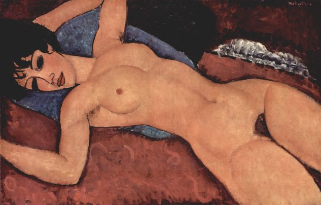 modigliani desnudo reclinado 1917 private coll