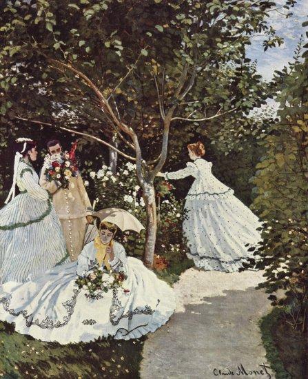 monet mujeres en el jardin museo dorsay