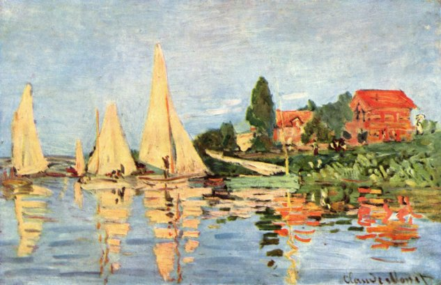 monet boat races at argenteuil c 1872 musee dorsay