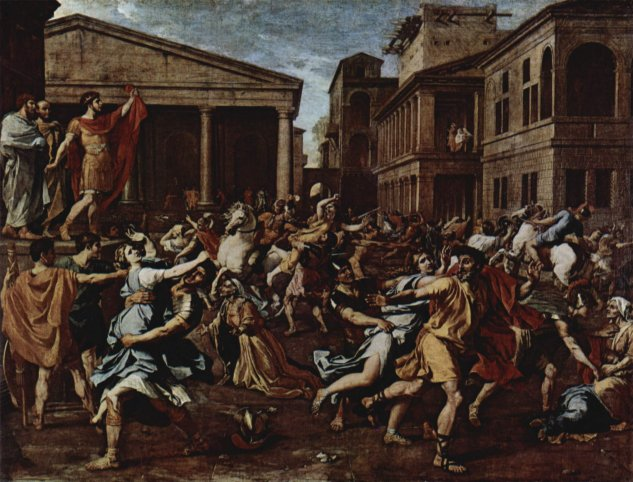 poussin rape of the sabine women 1637 38 louvre