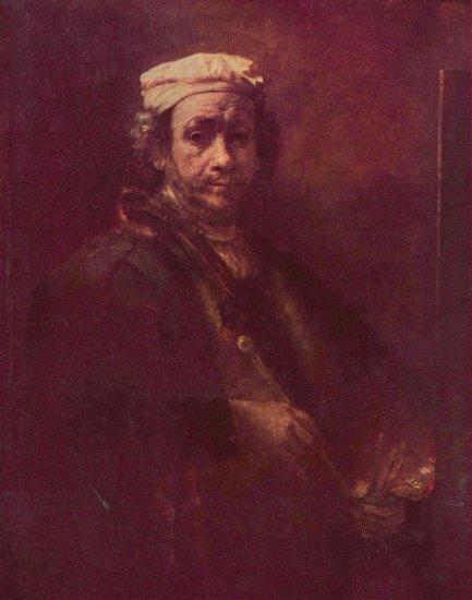 rembrandt autorretrato con caballete louvre