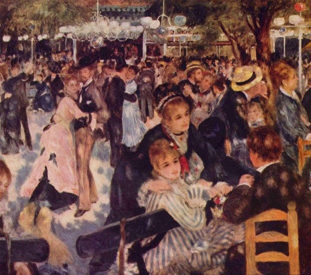 renoir baile en el moulin de la galette montmatre 1876 museo dorsay