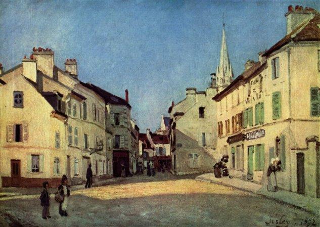 sisley rue de la chaussee a argenteuil ou place a argenteuil 1872 musee dorsay