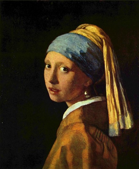 vermeer jan head of a young girl girl with a pearls earring mauritshuis