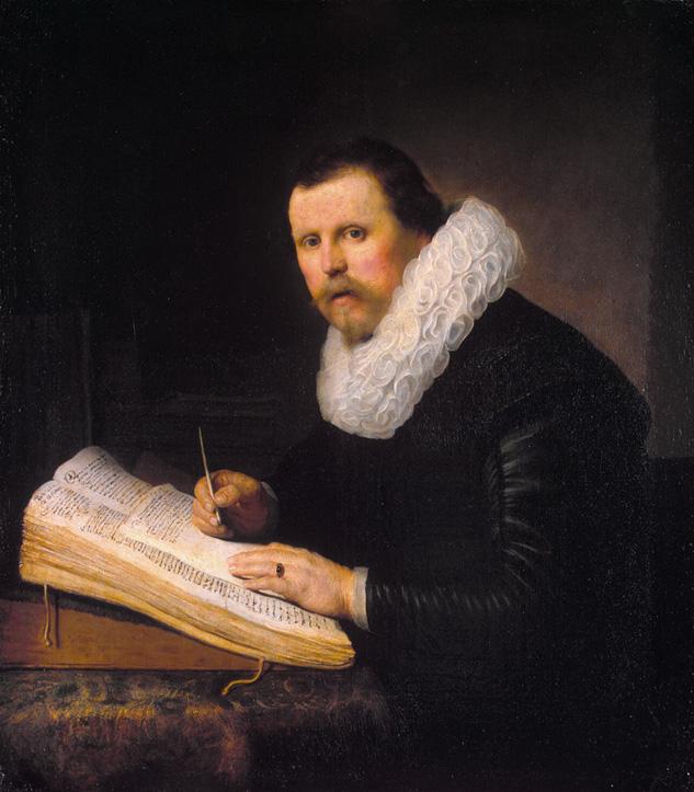 rembrandt escritor en su estudio museo del hermitage