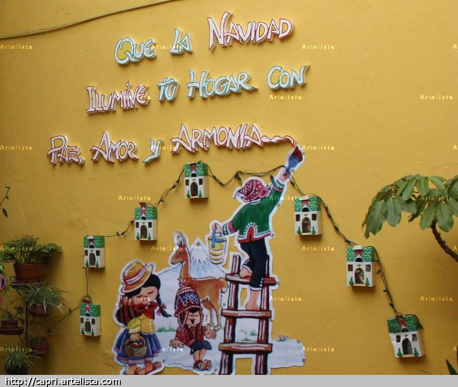 Navidad peruana m nica parre o rodr guez for Murales de fotos para pared