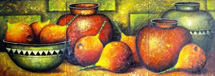 Bodegon precolombino gabriel nieto nieto pintor colombiano for Pinturas bodegones modernos