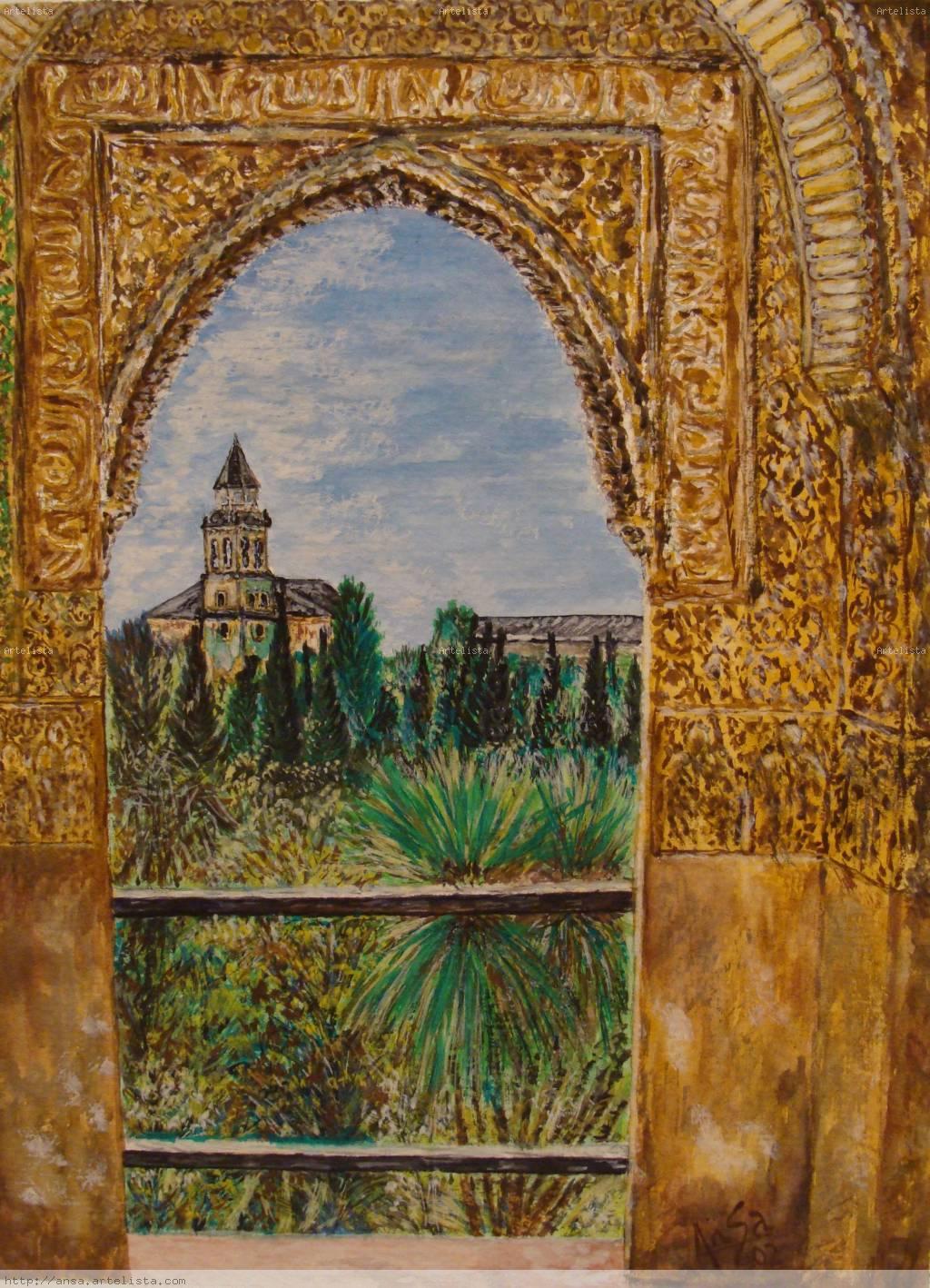 Alhambra de granada juan carlos sastre carvajal - Pinturas arenas granada ...