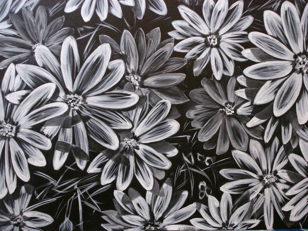 Cuadros De Flores En Blanco Y Negro - Decoración Del Hogar - Prosalo.com